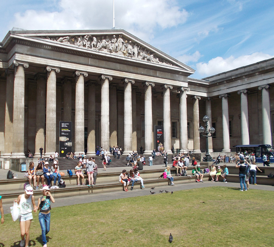 The British Museum in London's Bloomsbury