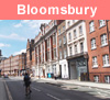 View of Bloomsbury in London