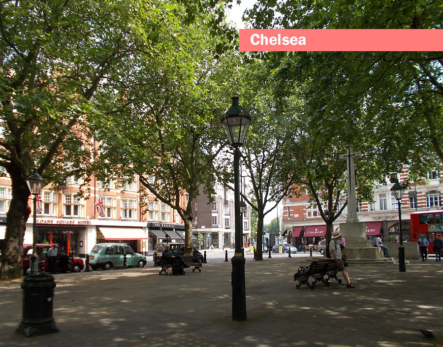 Sloane Square in London's Chelsea