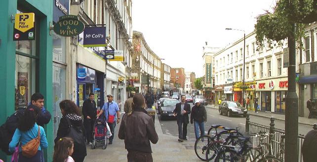 Shops in London's Earl's Court
