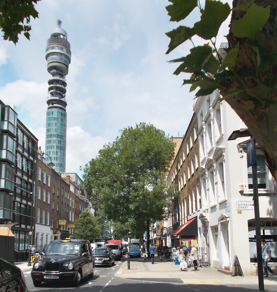 BT Tower in London's Fitzrovia