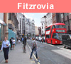 View of Fitzrovia in London