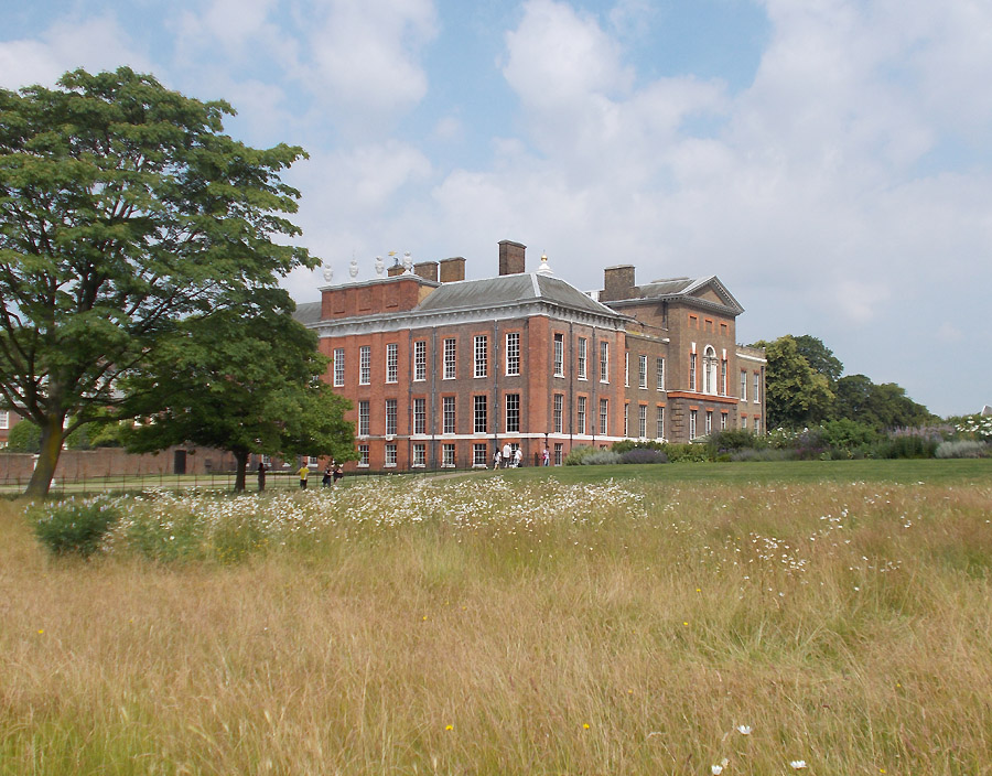 Kensington Palace in London's Kensington Gardens