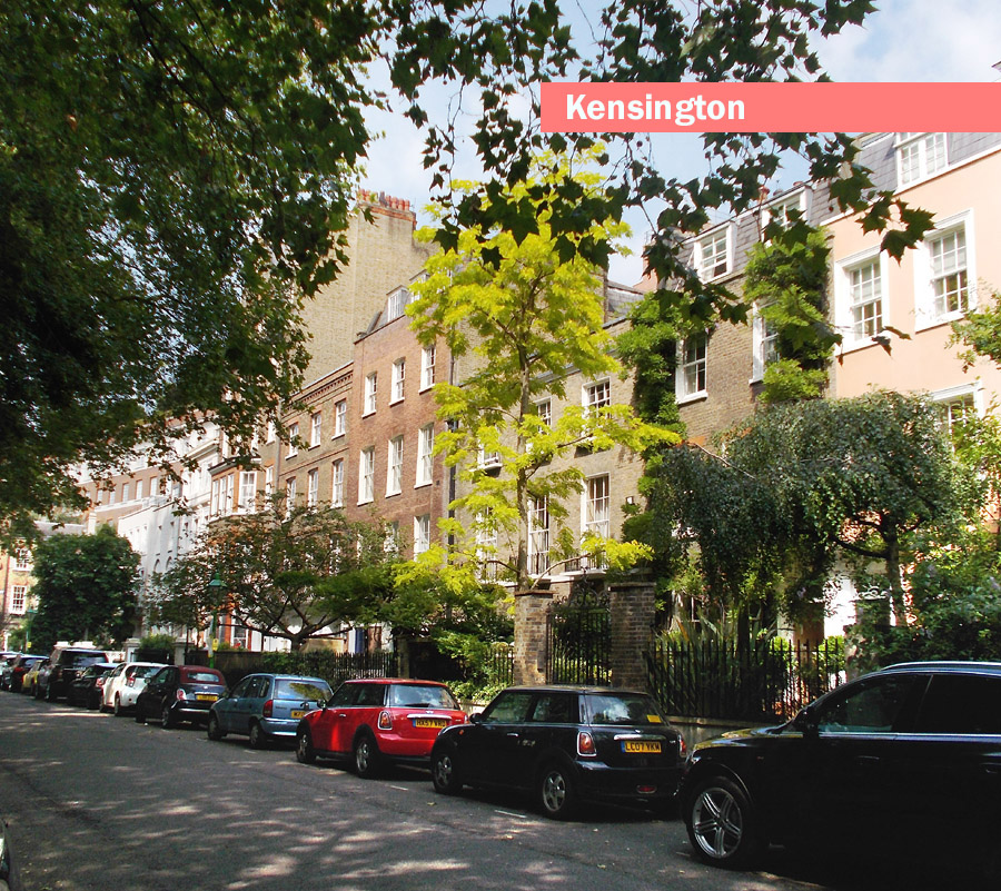 Typical street in London's Kensington