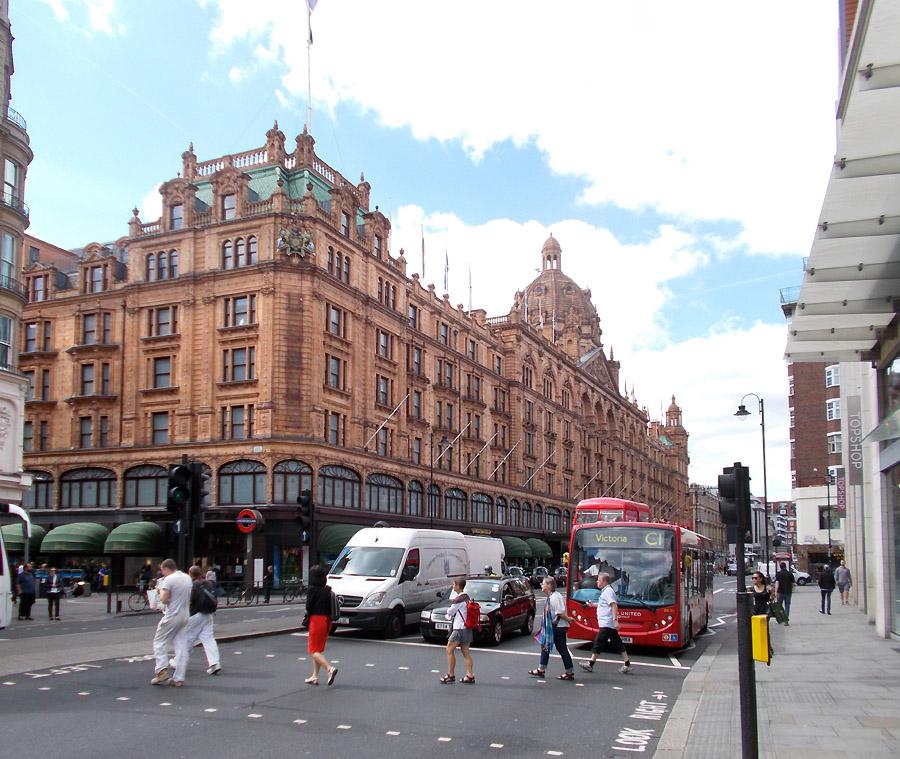 Harrods store in London's Knightsbridge