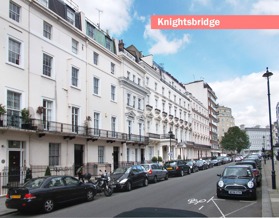 A typical street in London's Knightsbridge