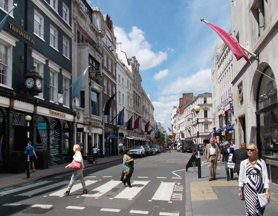 Bond Street shops in London's Mayfair