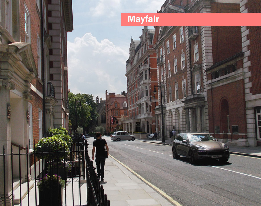 A typical street in London's Mayfair