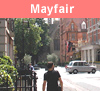 View of Mayfair in London