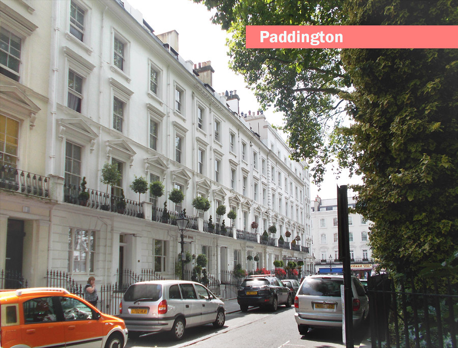 A typical street in London's Paddington
