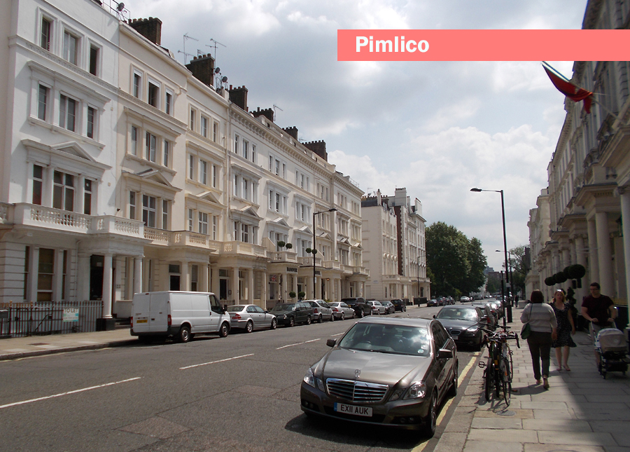 A typical street in London's Pimlico
