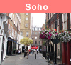View of Soho in London