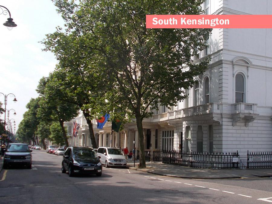 A typical street London's South Kensington