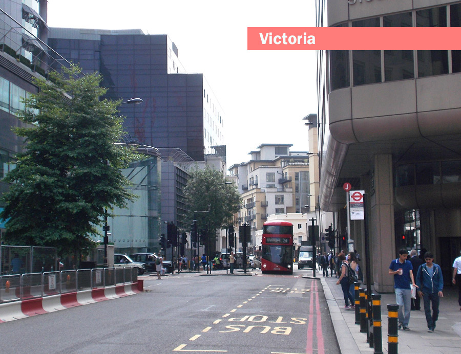 A typical street in London's Victoria