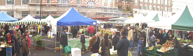 Farmers market at Marylebone Church