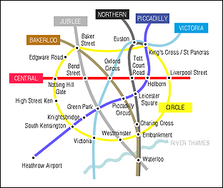 Mini London tube map to download
