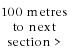 100 metres walk o the next section