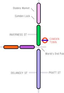Map of Camden Town