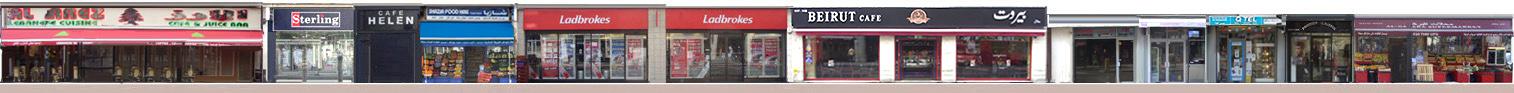 Shops and restaurants on Edgware Road