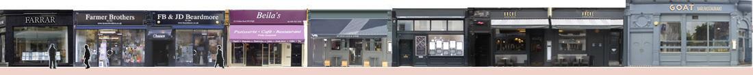 Fulham Road shops and restaurants