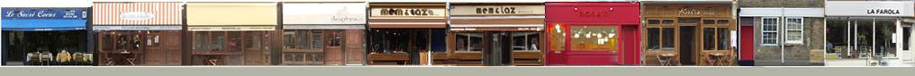 Theberton Street shops and restaurants