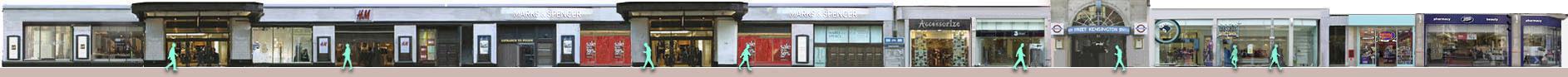 Kensington High Street shops