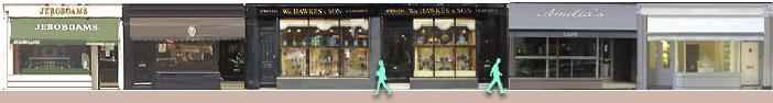 Shops on London's Walton Street