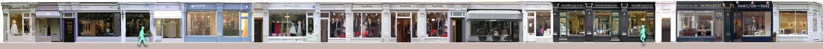 Shops on Chiltern Street in London's marylebone-london