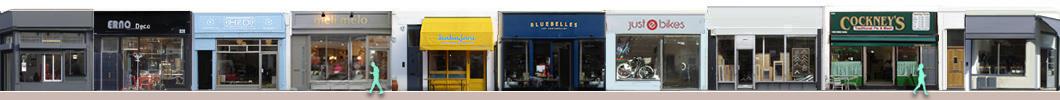 Portobello Road shops and restaurants