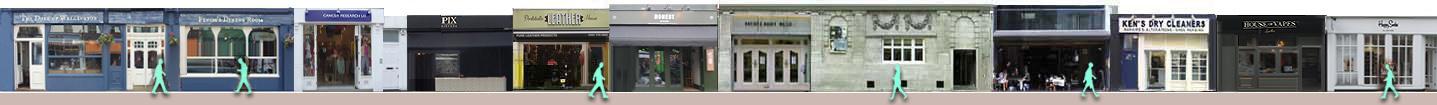 Portobello Road shops and cinema