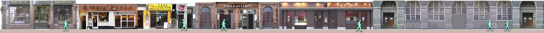 Lisle Street shops and restaurants