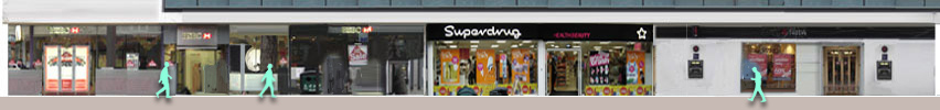 Shops in Tottenham Court Road