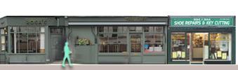 Wilton Road shops and restaurants