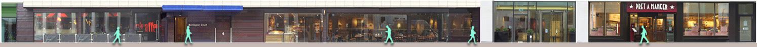 Wilton Road, Victoria, shops and restaurants