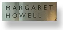 Margaret Howell shop sign on Fulham Road