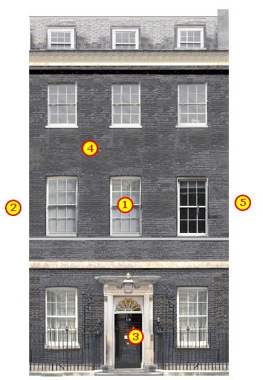No 10 Downing Street In London