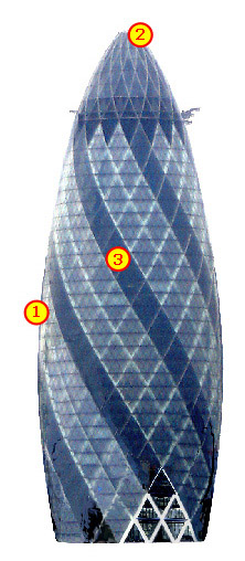 The 'Gherkin' in City of London