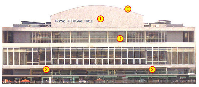 Royal Festival Hall on London's South Bank