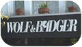 Wolf and Badger sign
