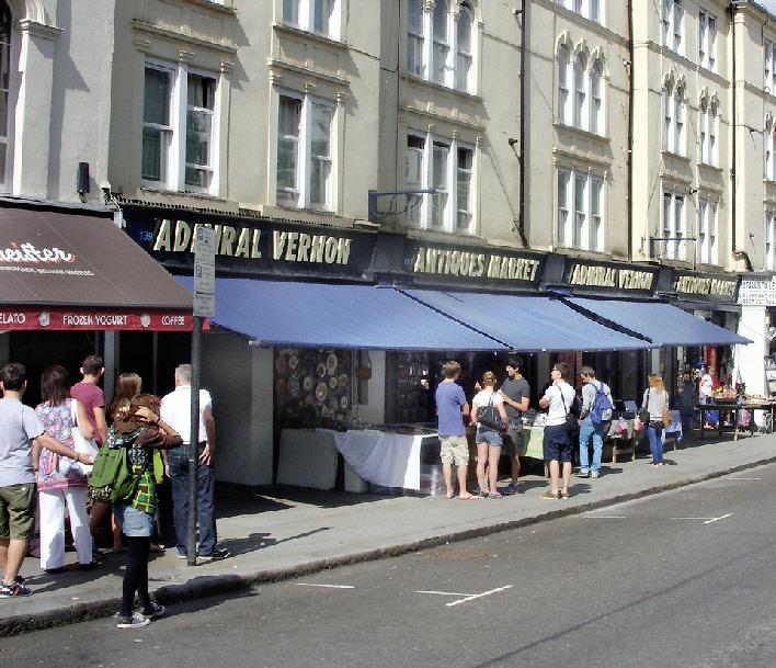 Admiral Vernon antiques market on London's Portobello Road