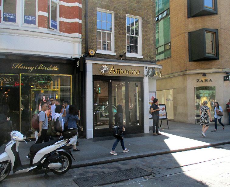 Amorino gelateria in London's Covent Garden