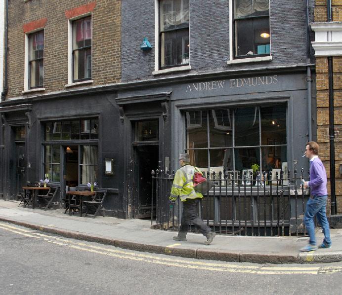 Andrew Edmunds restaurant in London's Soho