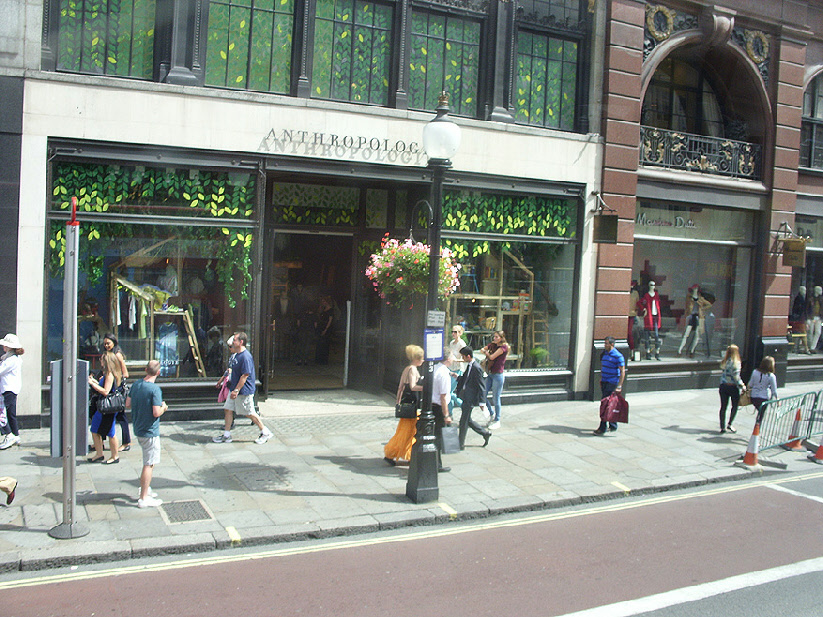 Anthropologie shop on London's Regent Street