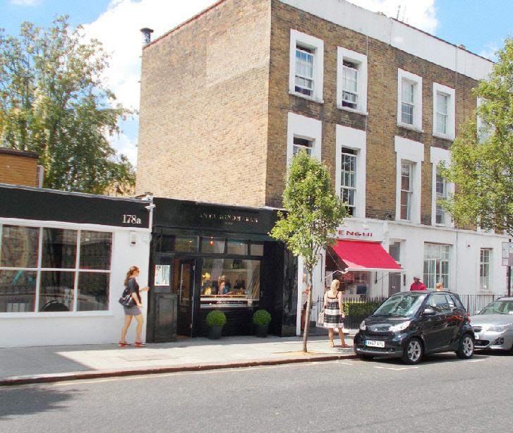 Anya Hindmarch handbag shop in London's Notting Hill
