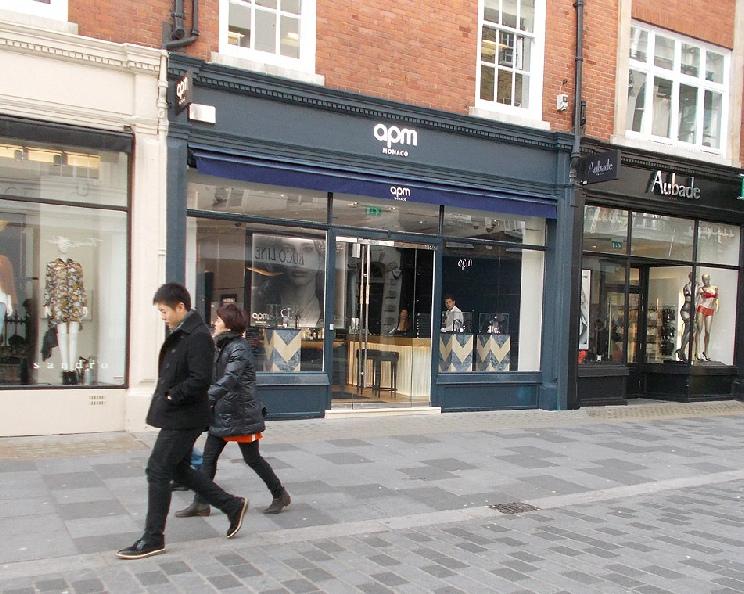 Apm Monaco jewellery shop in London's Mayfair