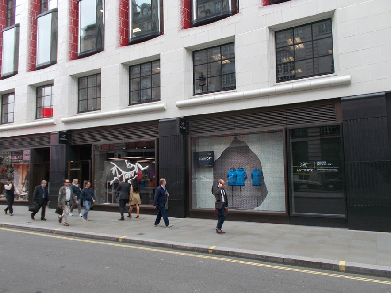 Arc'teryx activity clothing shop on London's Piccadilly