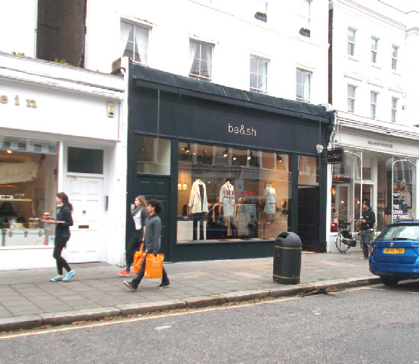 Ba and Sh womenswear shop in London's Notting Hill