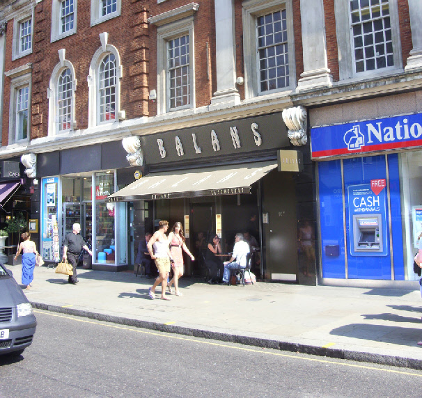 Balans restaurant in London's Kensington