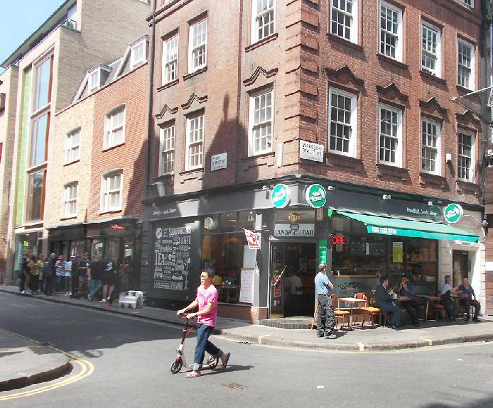 Bar Bruno cafe in London's Soho