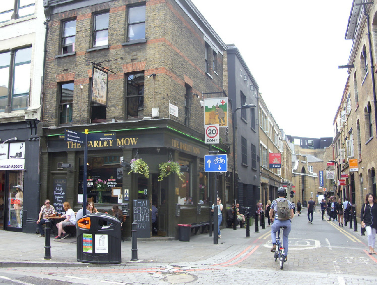 The Barley Mow pub in London's Shoreditch